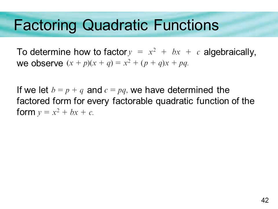 how to find factored form from a graph