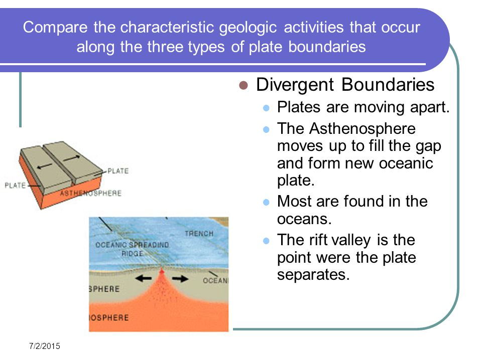 divergent and convergent plate margins comparison Objectives: compare and contrast divergent, convergent, and transform plate boundaries describe how convection currents might be the cause of plate tectonics.