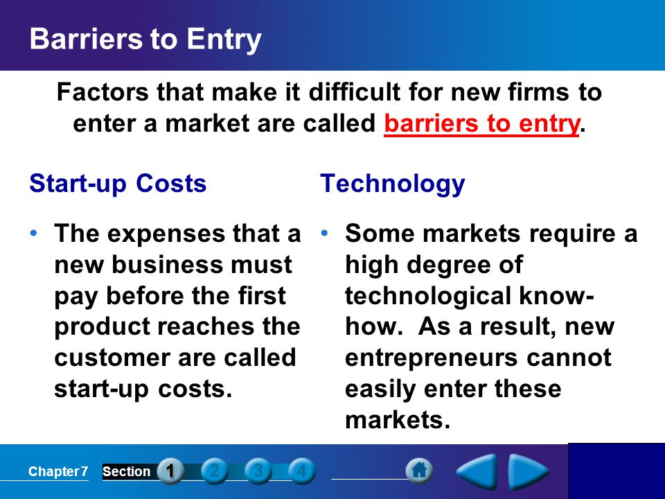 barriers to entry and how they How monopolies form: barriers to entry there are two types of monopoly, based on the types of barriers to entry they exploit one is natural monopoly.