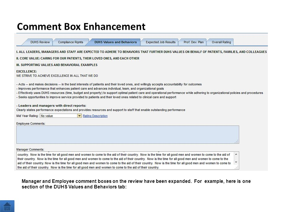 23 Comment Box Enhancement