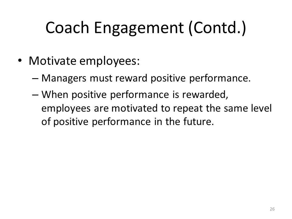 Coach Engagement (Contd.)