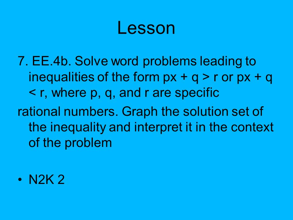 Equations and Inequalities Involving Signed Numbers