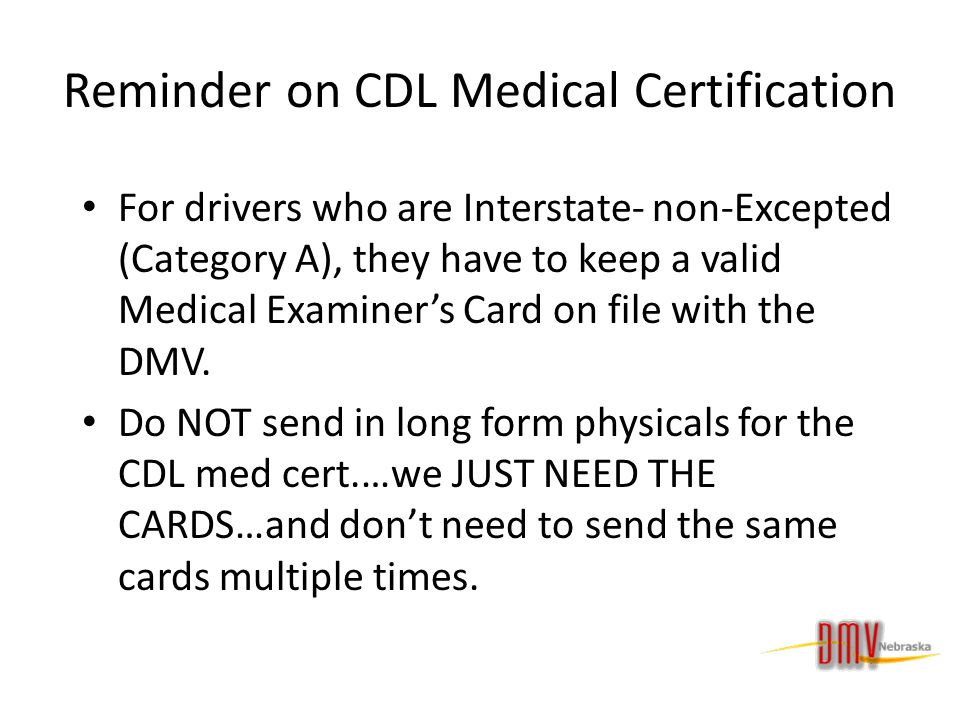 CDL Medical Certification Requirement TxDPS - dinocro.info