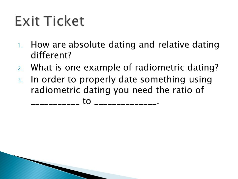 Absolute Dating Tuesday December 2nd ppt download – Absolute Dating Worksheet