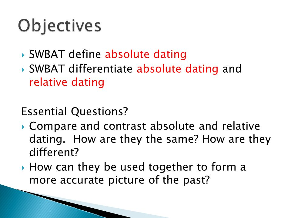 Definition Of Absolute And Associated Dating