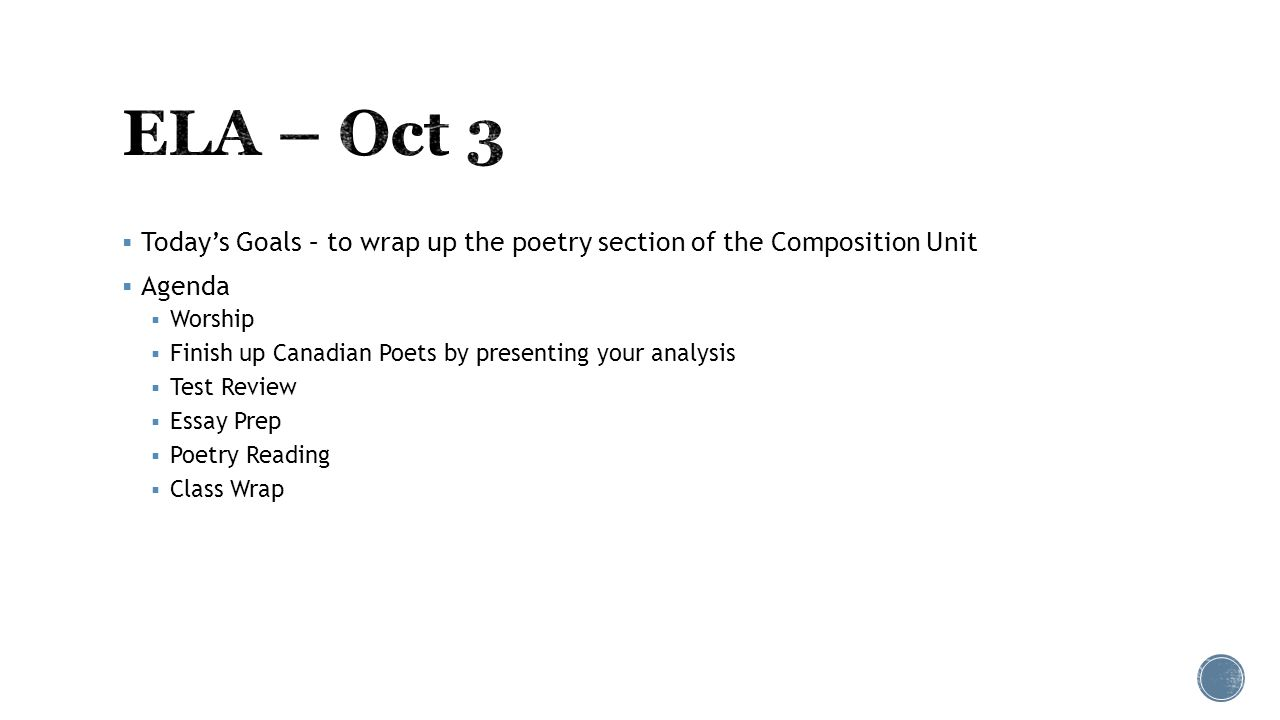 An analysis of poetry unit