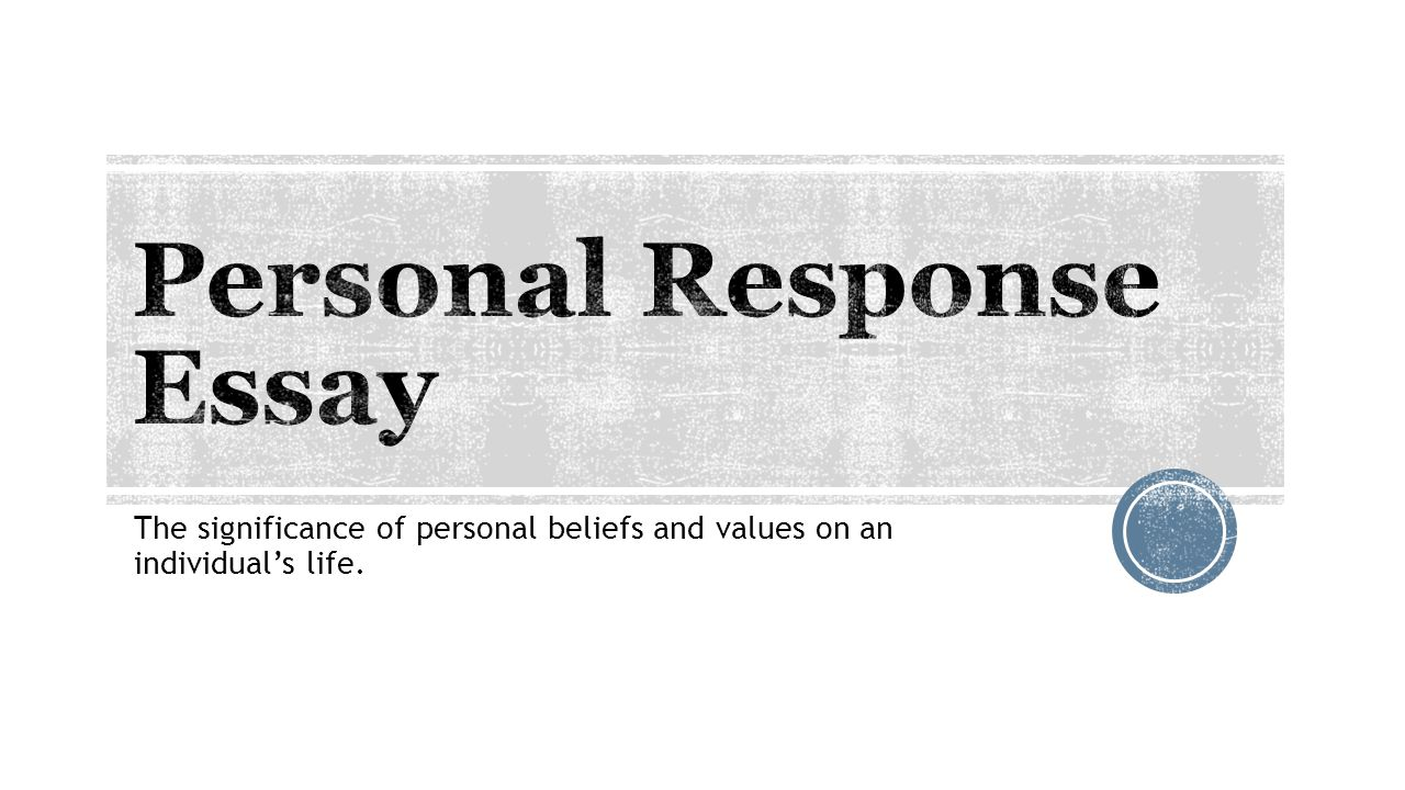 personal values paper essays This paper looks into how personal values, organizational values and ethical values come into play in the decision-making process personal values one's personal values are acquired early in life and they tend to remain fairly steady.