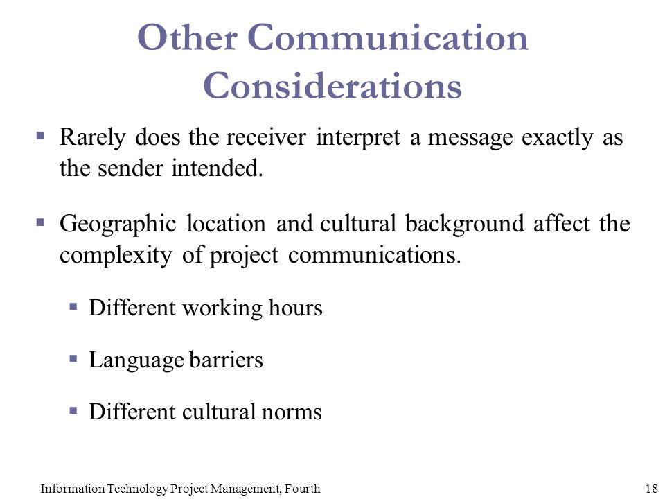 Other Communication Considerations