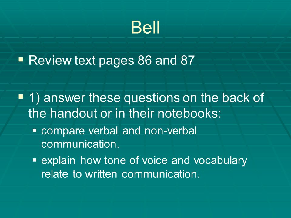 Bell Review text pages 86 and 87