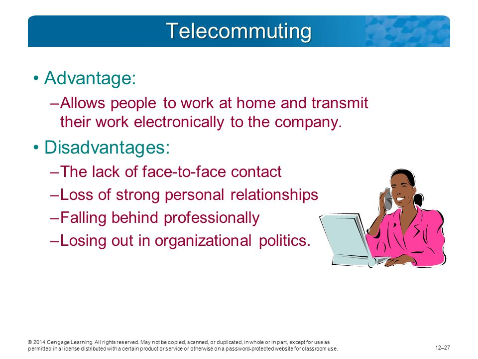 home based teleworking and the employment relationship