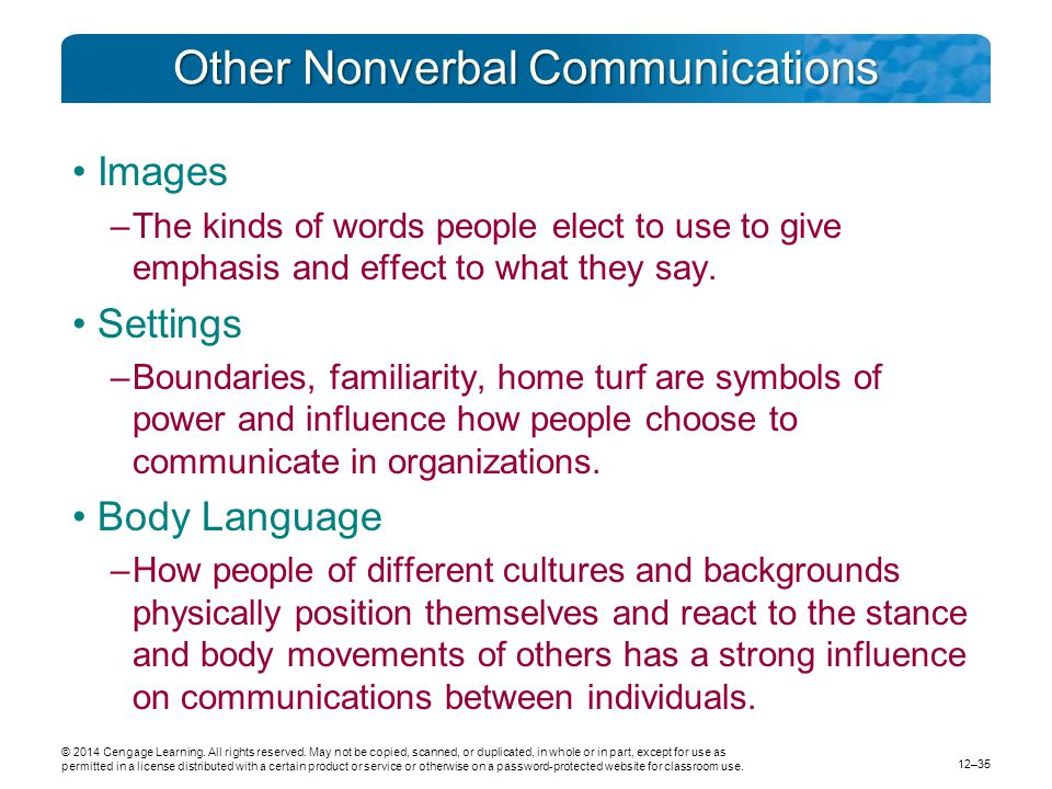 Other Nonverbal Communications