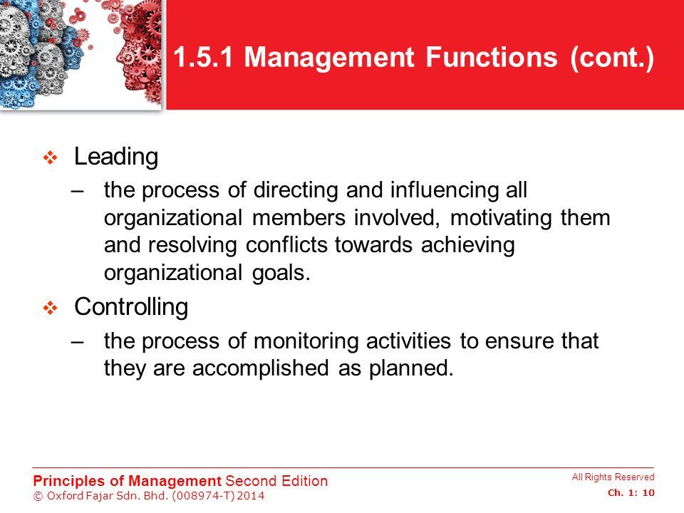 1.5.1 Management Functions (cont.)