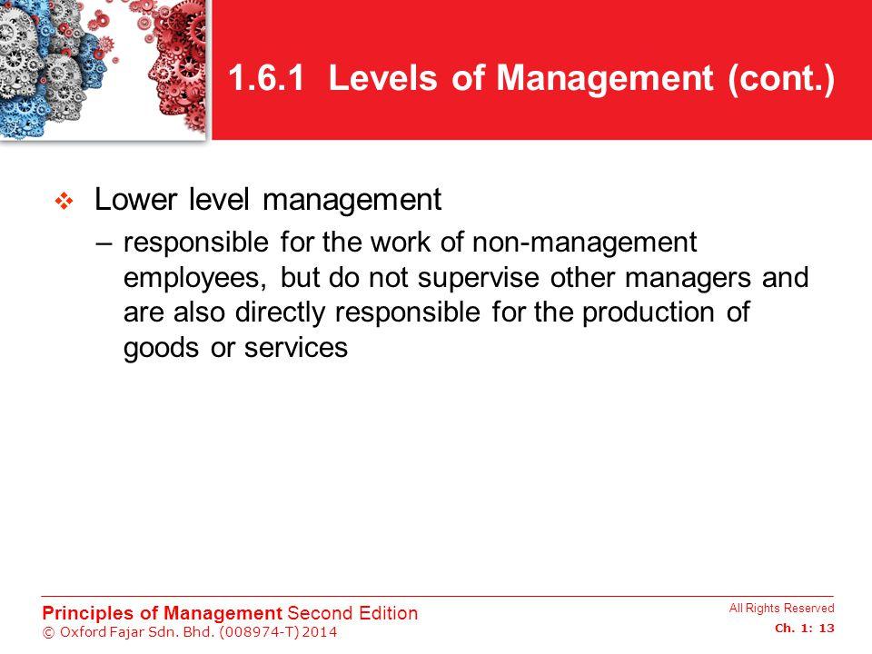 1.6.1 Levels of Management (cont.)