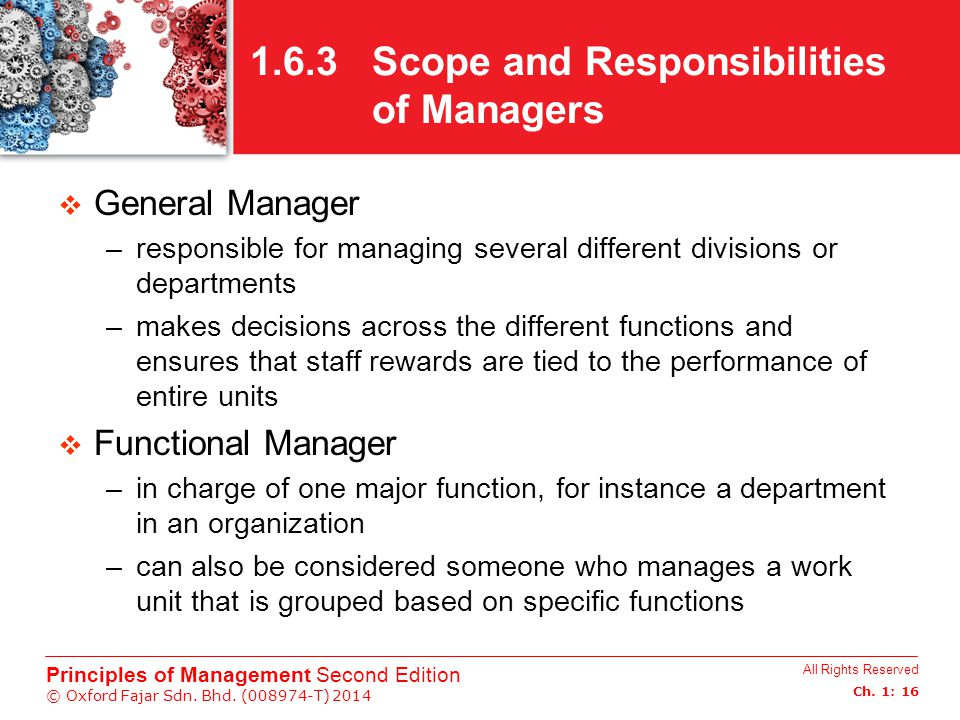 1.6.3 Scope and Responsibilities of Managers