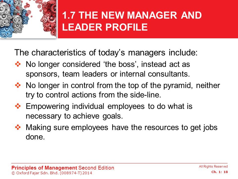 1.7 THE NEW MANAGER AND LEADER PROFILE