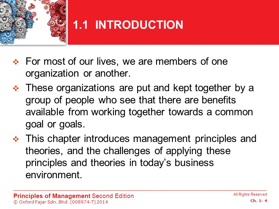 1.1 INTRODUCTION For most of our lives, we are members of one organization or another.