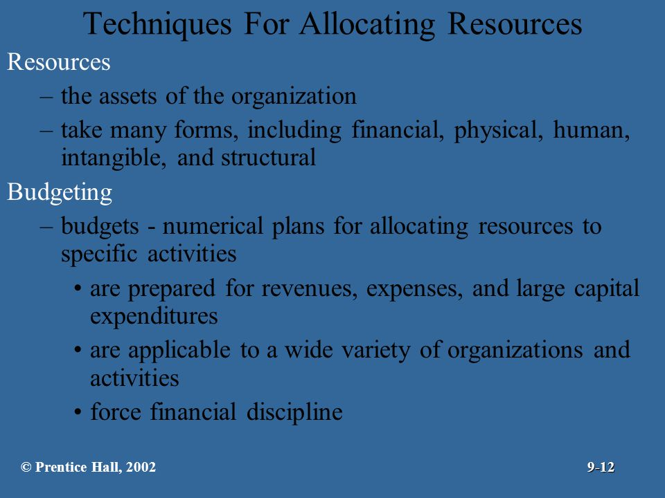 Techniques For Allocating Resources