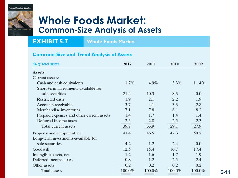 Whole foods financial anaylysis