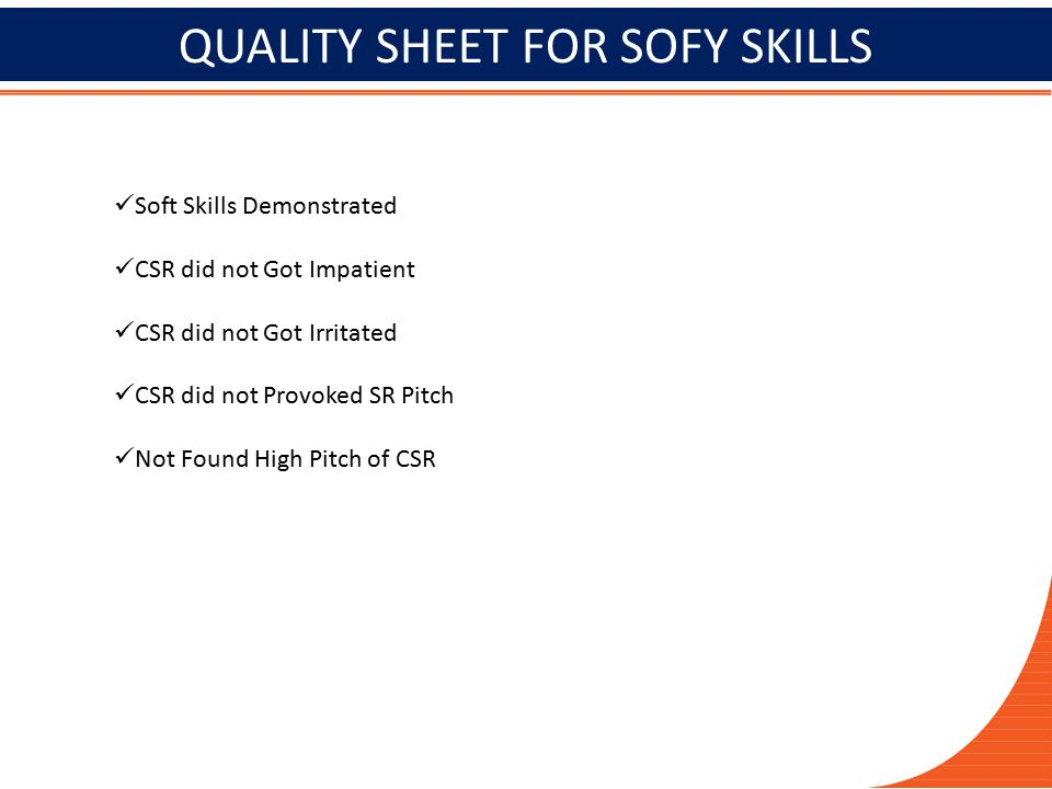 QUALITY SHEET FOR SOFY SKILLS