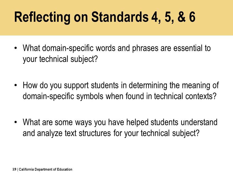 Reflecting on Standards 4, 5, & 6