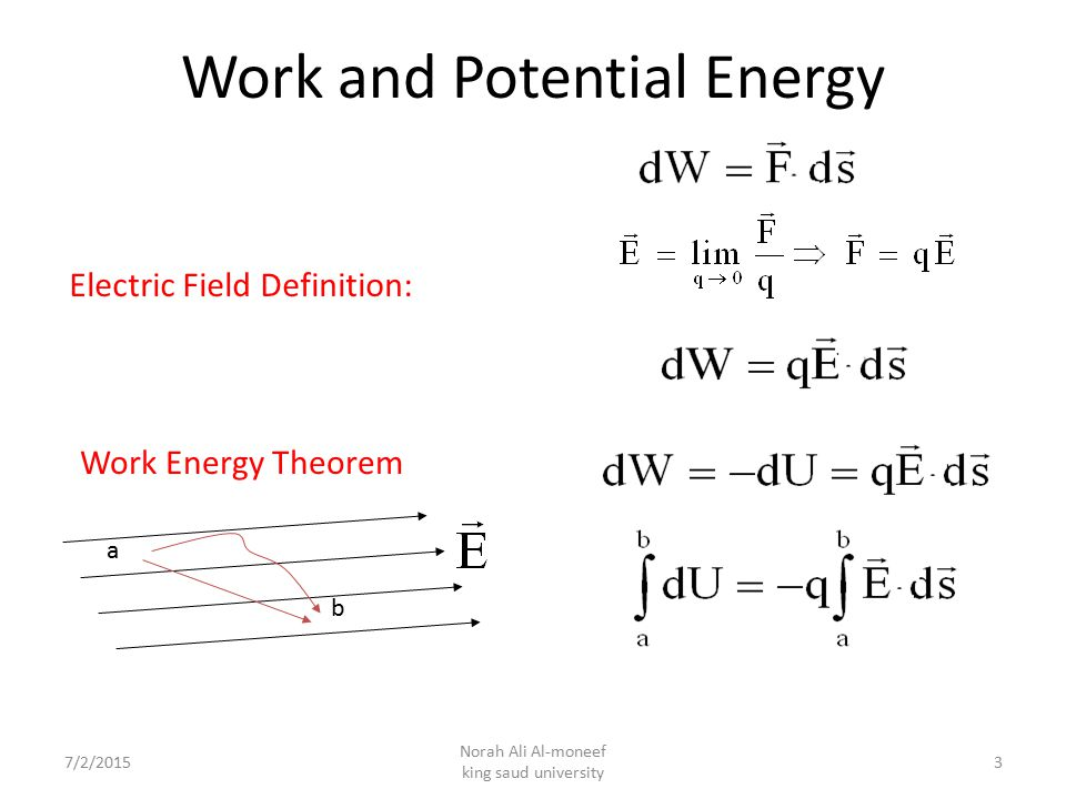 Work and Potential Energy