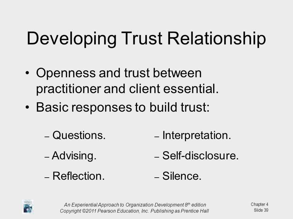 creating trust in a relationship