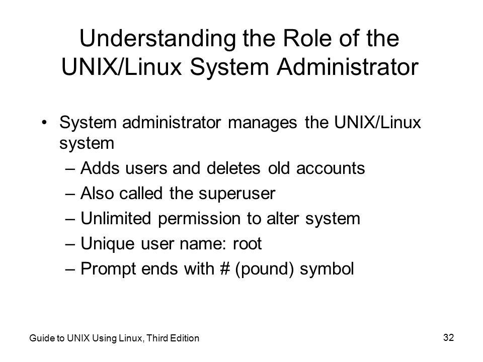 Understanding the Role of the UNIX/Linux System Administrator