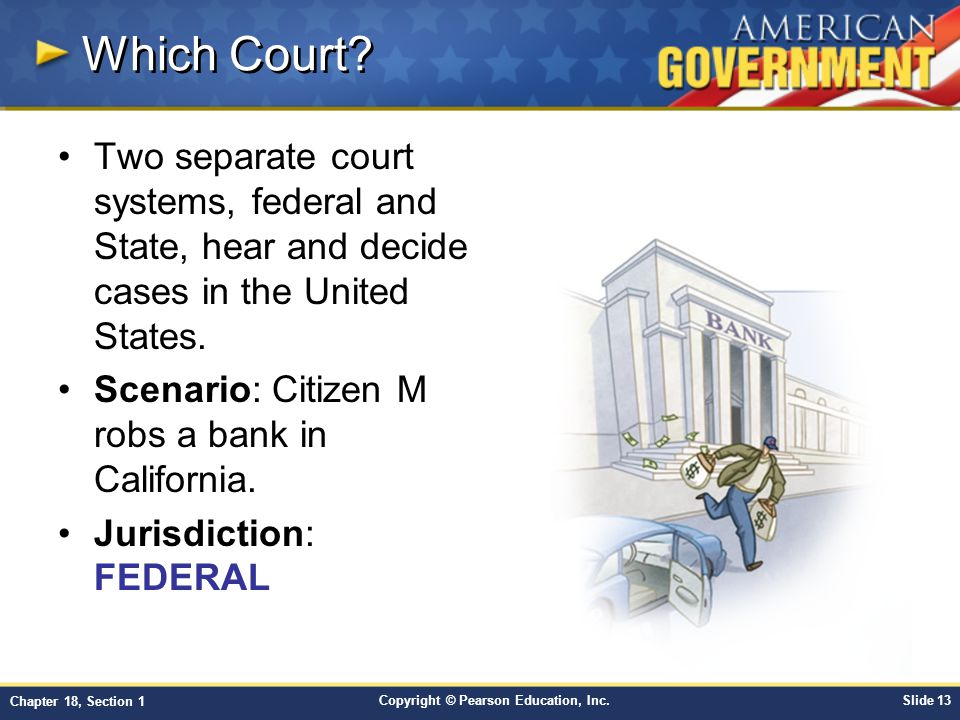 Which Court Two separate court systems, federal and State, hear and decide cases in the United States.