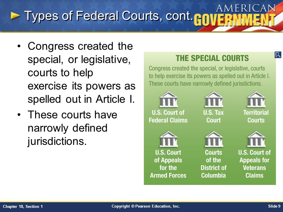 Chapter 18: The Federal Court System Section 1 - ppt video online download