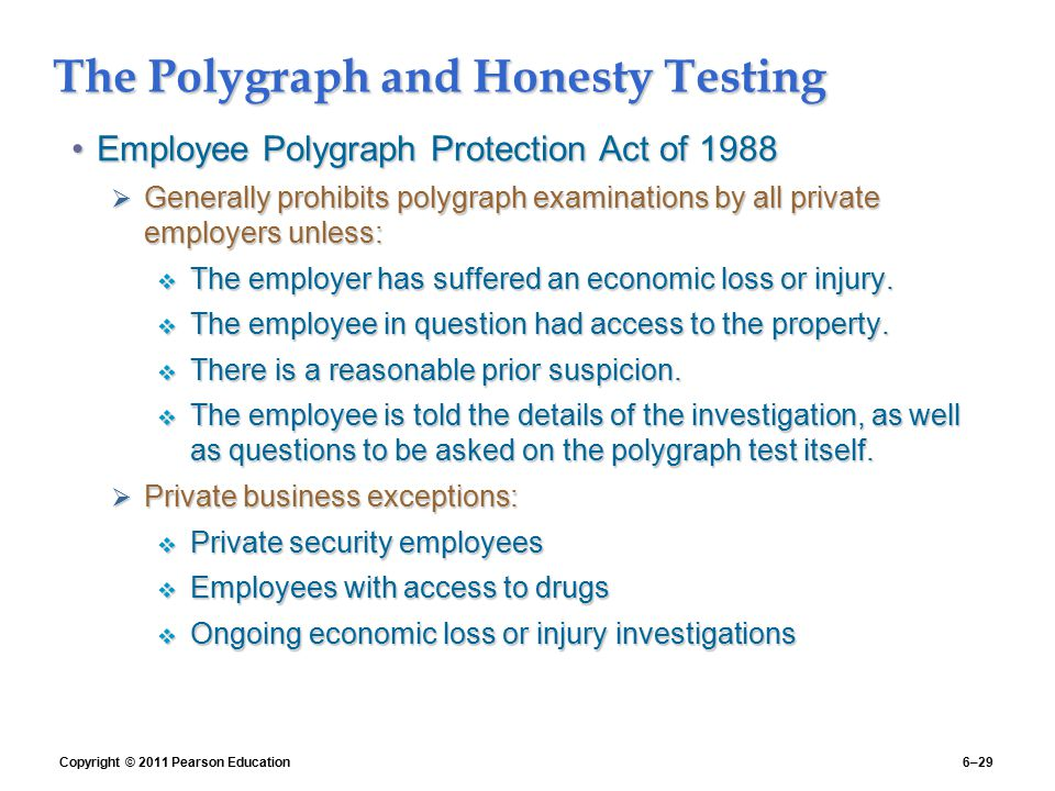The Polygraph and Honesty Testing