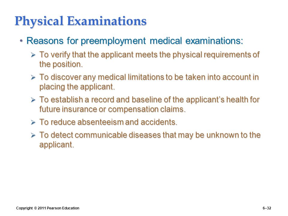 Physical Examinations