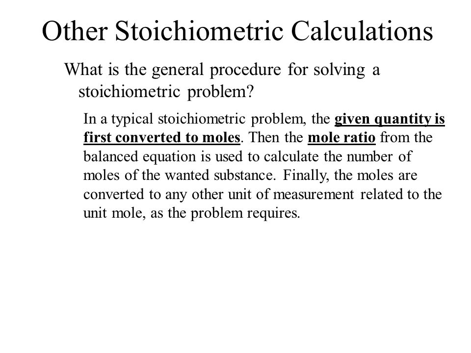Chapter 12--Stoichiometry - ppt video online download