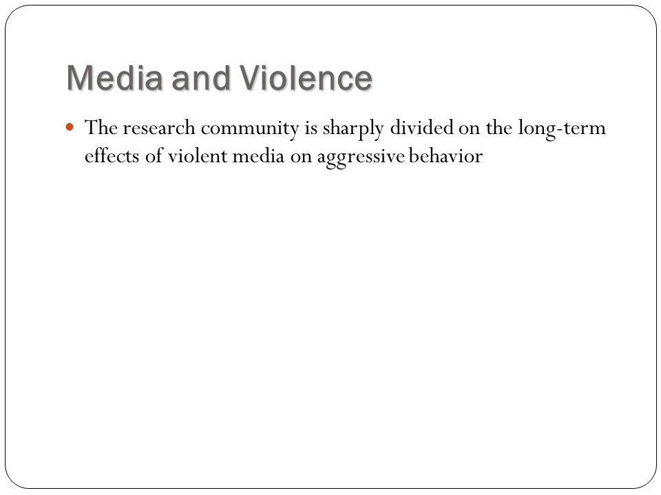a research on the effects of television on human behavior Review of the research on media violence and its effects treat violence as what it is—a human behavior that television and behavior.