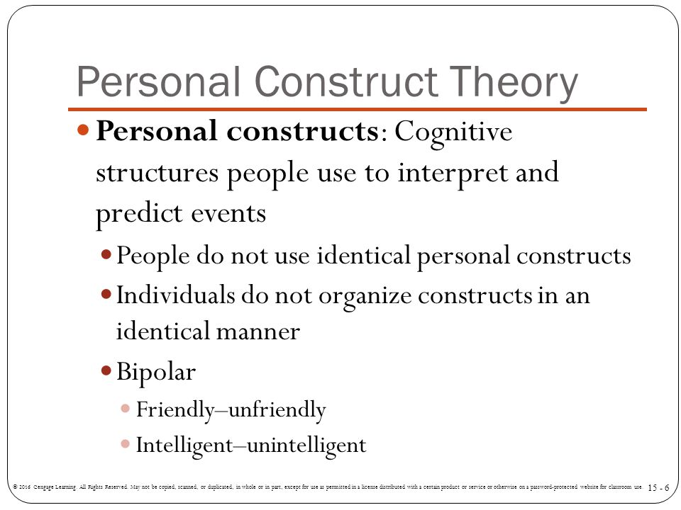 Traits or Personal Constructs?