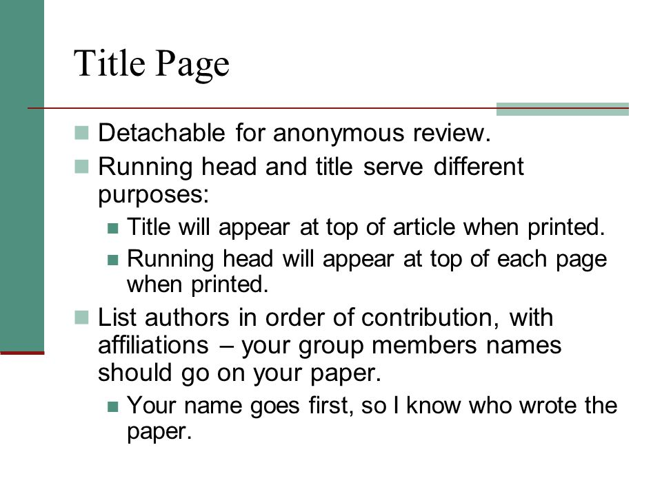 Title Page Detachable for anonymous review.