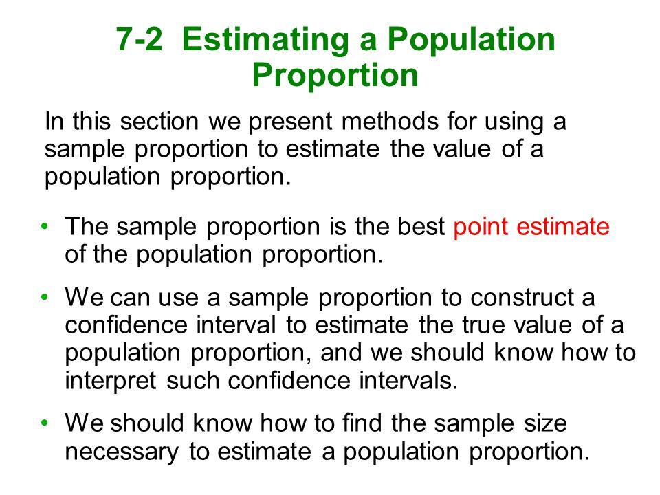 7-2 Estimating a Population Proportion - ppt download