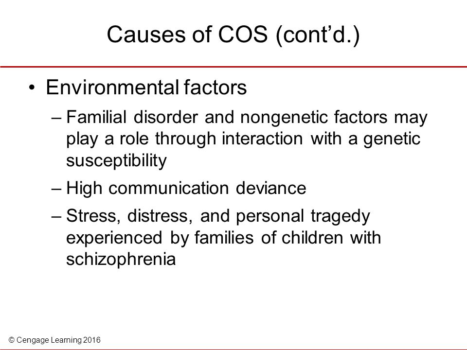 a personal experinece of schizophrenia in the family The effects of schizophrenia on the family: a review and personal account by angela sue o'brien bs, kansas state university, 2005 ----- a report.