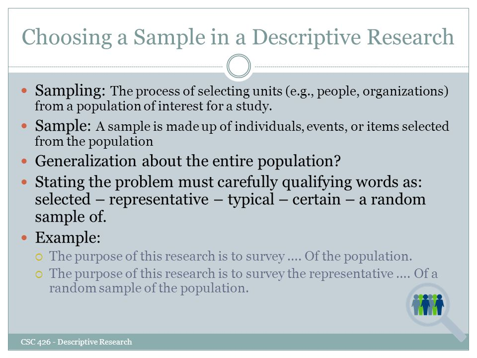kinds of descriptive research The most recognized types of descriptive statistics are the mean, median, and mode, which are used at almost all levels of math and statistics however, there are less-common types of descriptive.