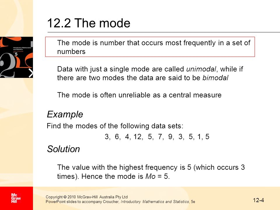 how to find the mode if there are two numbers