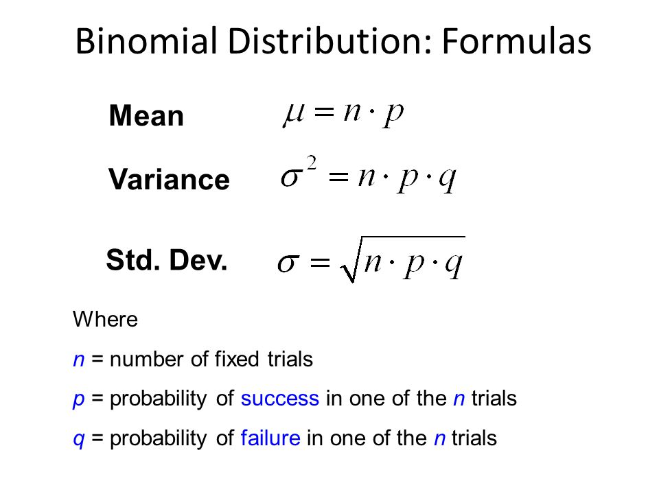 how to use the binomial probability formula