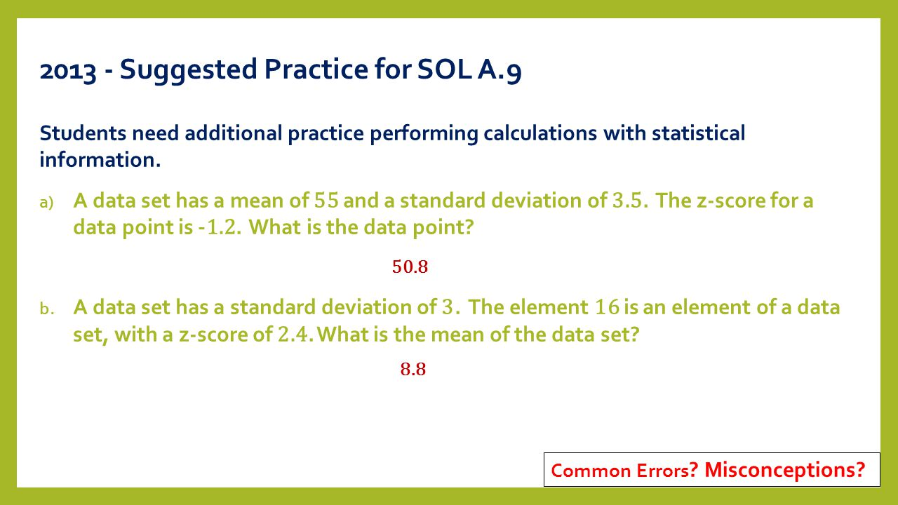 20 2013 Suggested Z Score Distribution How To Calculate Standard Deviation