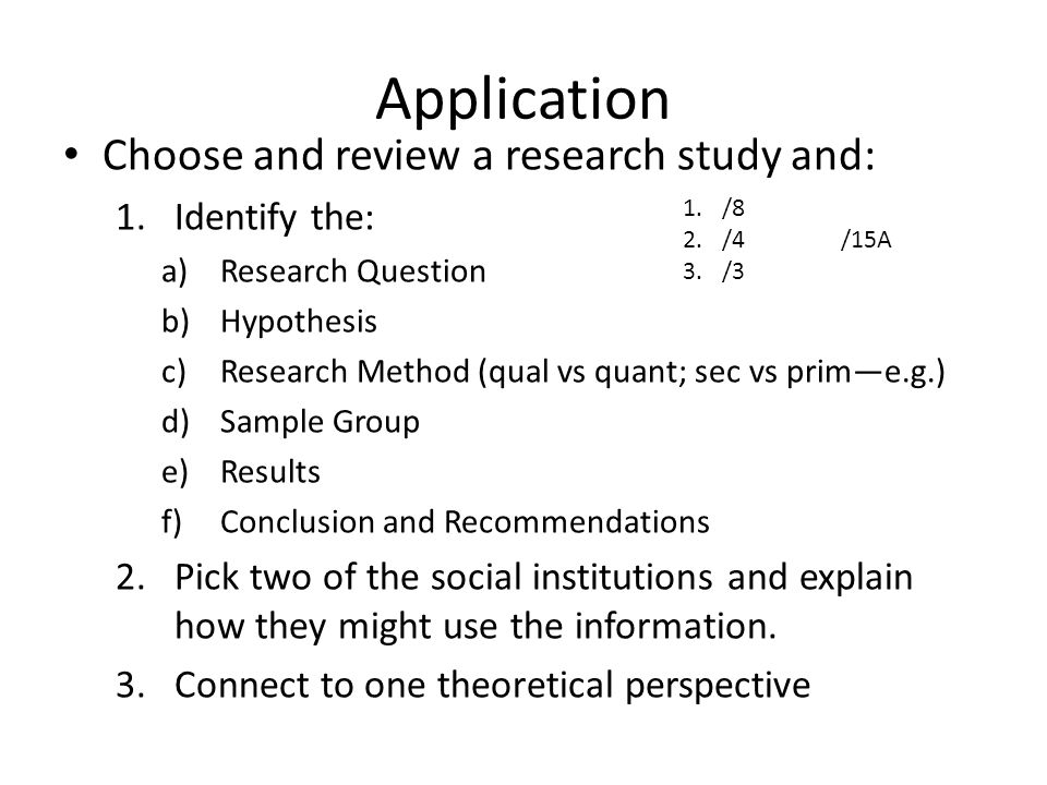 Q. How do I identify a research study?