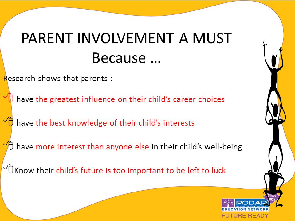 should parents decide the career of their children or not Parents often want that their children  parent should decide for their children's  i am positive about my great achievements in my future career as.