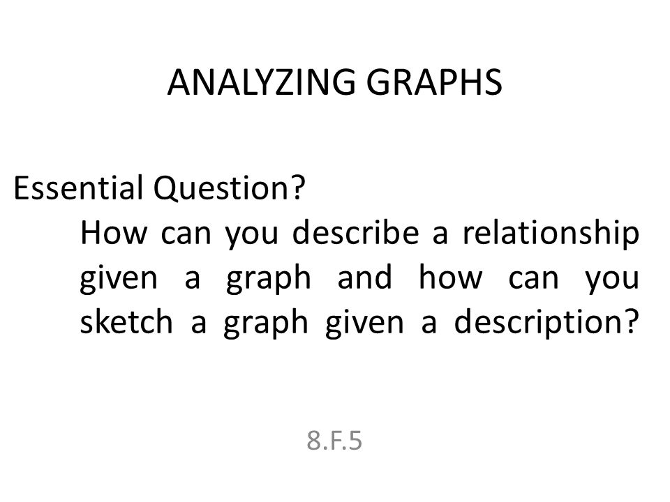 1 analyzing graphs essential question how can you describe