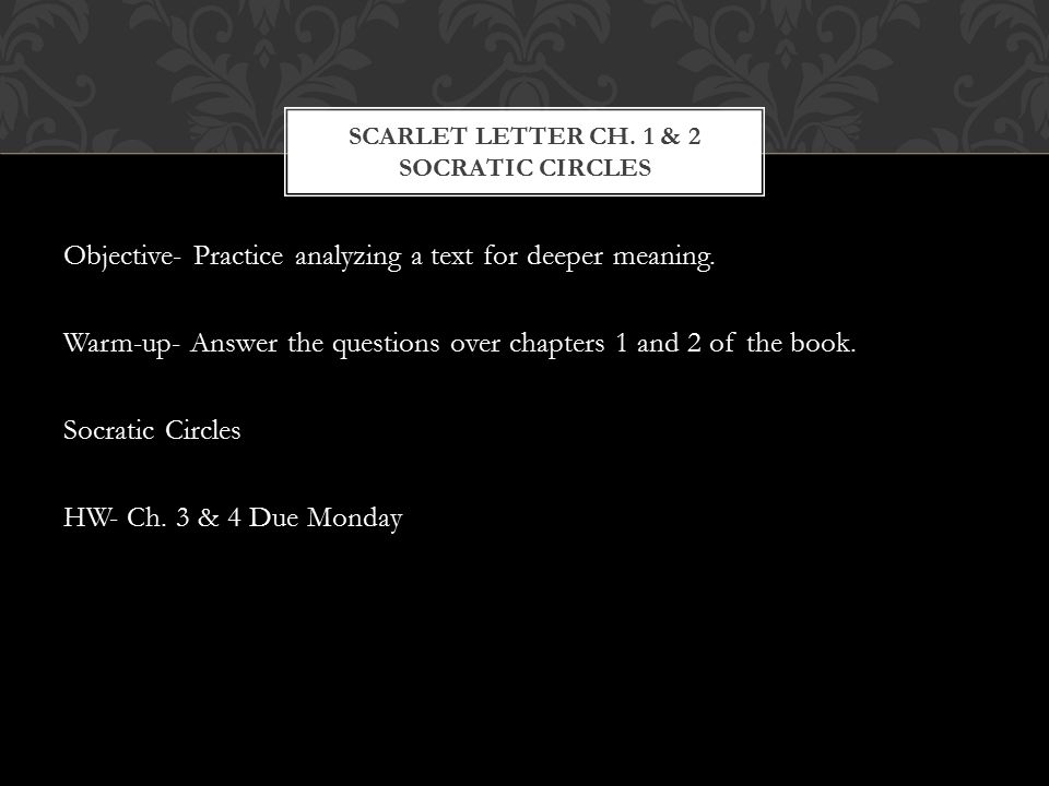 The Scarlet Letter Questions and Answers
