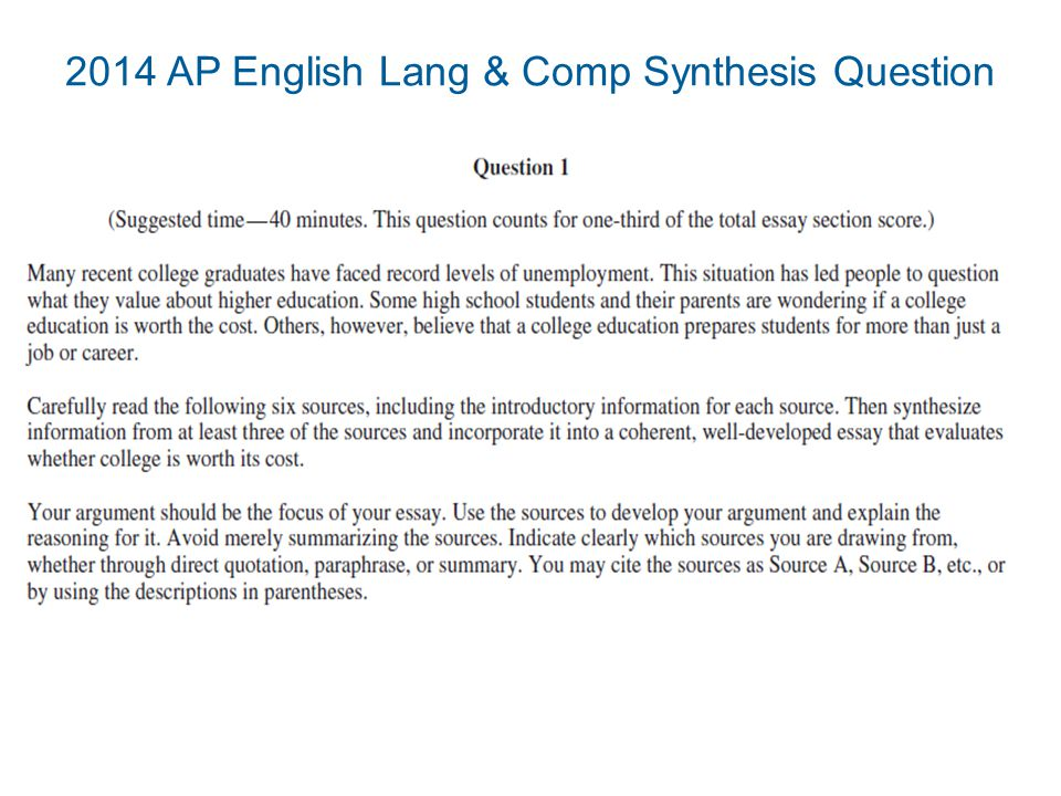 ap lang essays 2014 It is one of three actual free-response questions used on the 2011 ap english language and composition test tips for the argumentative essay language  2014.