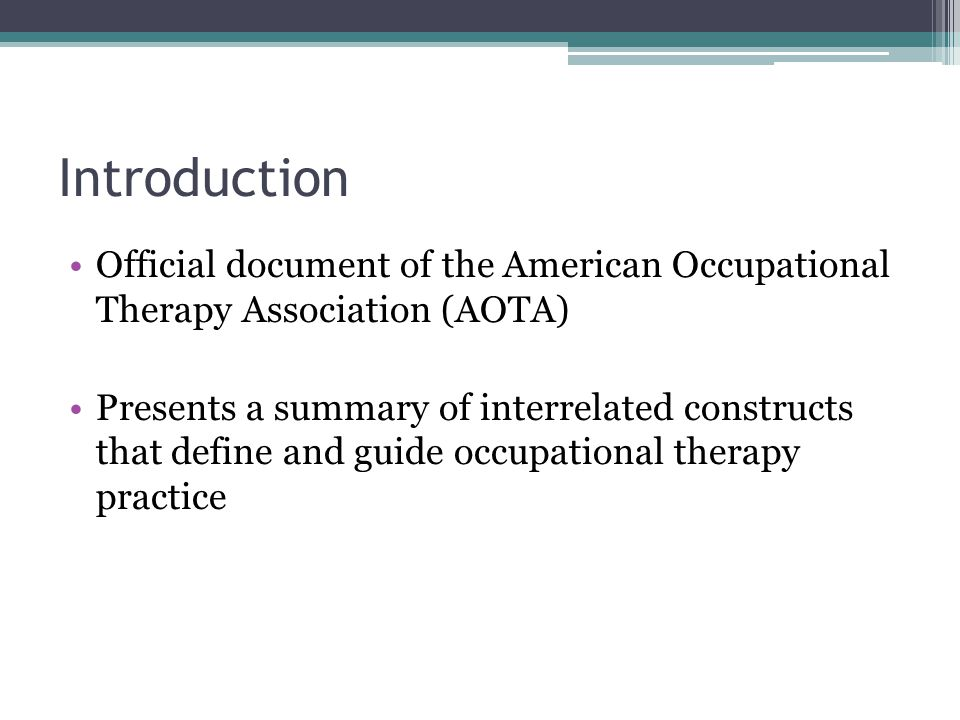 an introduction to the research of occupational therapy