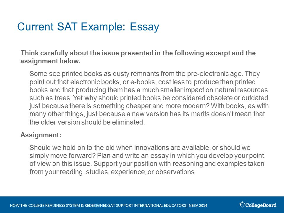 current sat example essay - Sat Example Essays