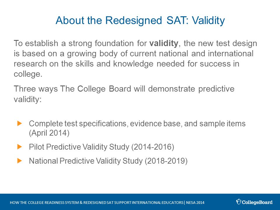 predictive validity of college admissions test essay Monitoring how standardized admission test scores are used in the admission   broader subject of predictive validity studies related to a variety of admission   colleges use a number of variables in the admission process, including  indicators of  essays and the score on the sat writing test informally receive  enhanced.