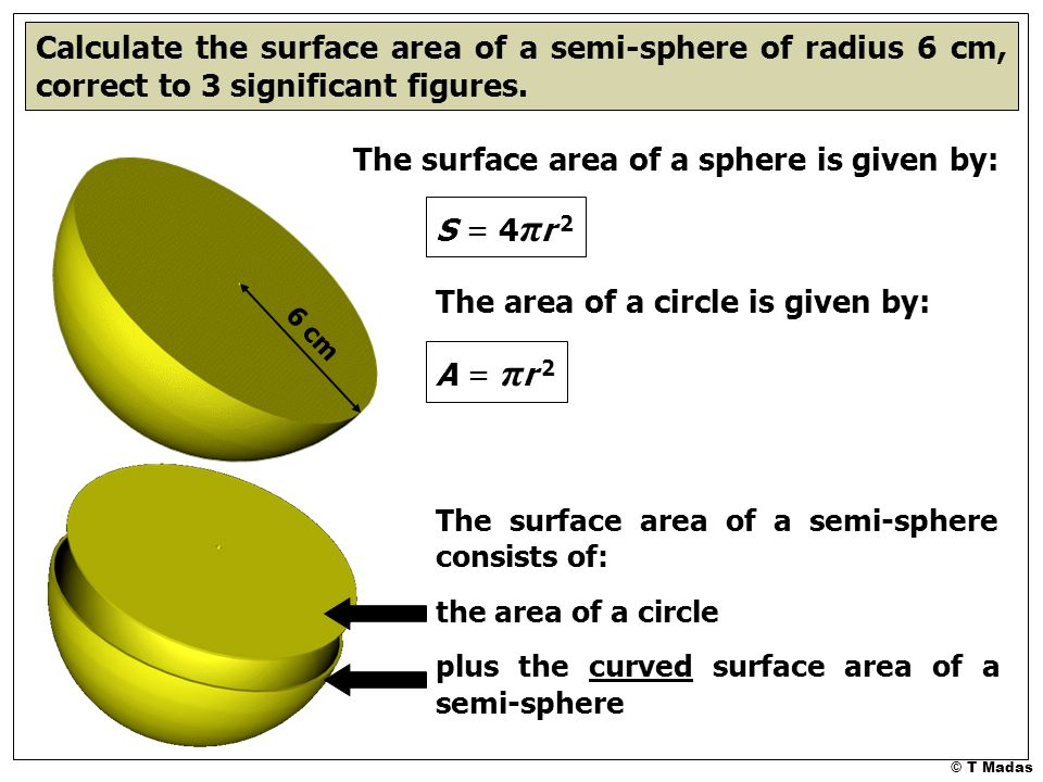 surface area of a sphere The third surface, the lateral surface area, is less easy to visualize for the purposes of calculating its area surface area of a sphere.